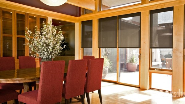 Solar Shades Provide Total Lighting Control!
